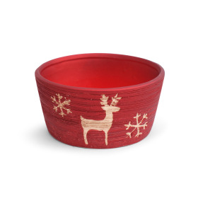 Ceramic bowl Caribou  Ø15.5cm red