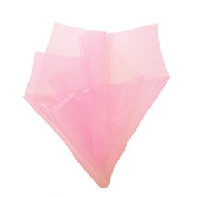 ORGANZA 20X28IN WITH 3IN HOLE NO EDGE LIGHT PINK