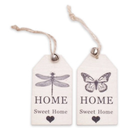Label  Home Sweet Home 8x4.5cm assorted x2