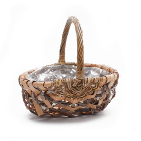 Basket Forest with handle 28x21cm H14cm nature