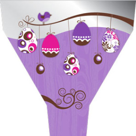 Easter Tree 21x17x5 in lilac