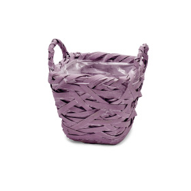 Basket Tess 15x15 H14 cm purple
