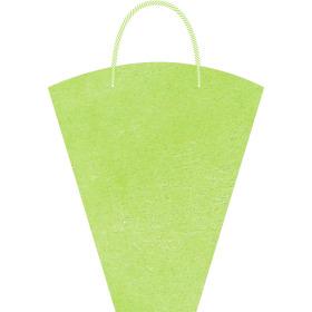 Bloementas Nonwoven 40x30x12cm groen