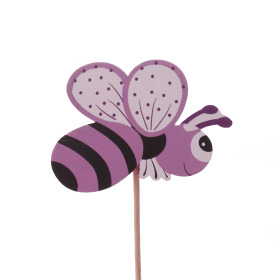 Summer Bee 7cm on 50cm stick lilac