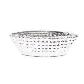Ceramic Pot Kano Madras 28x13cm H9cm silver
