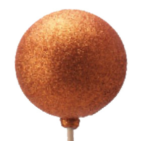 Christmas Ball Glitter 6cm on 50cm stick copper