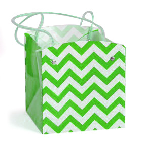 Carrybag waterproof folded Chevron 15x15x15cm green