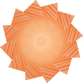 Sheet Marvelous Ø80cm orange