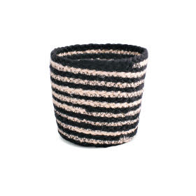 Pot basket Black&White Ø15 H14cm