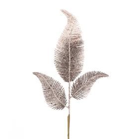 Christmas leaf Blizz 24cm on 45cm stick rosé