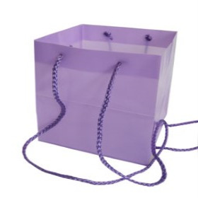 SQUARE CARRYBAG 6.25X6.25X6.25 IN LILAC
