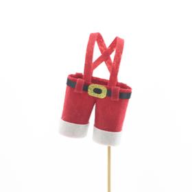 Santa's Pants 11x7cm on 50cm stick red