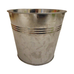 Tin Pot 6 in with plastic liner