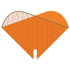 Sleeve Doublé Cotton Fields 35x35cm orange