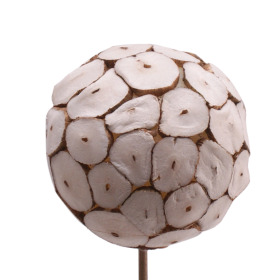 Ball Okta 6cm on 50cm stick natural