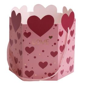 Carrybag  Adore Love Ø15x17cm pink