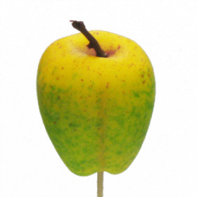 Fruit Apple 6cm on 50cm pick yellow