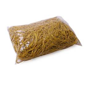 Rubber bands 40x1.5mm per bag 1kg yellow