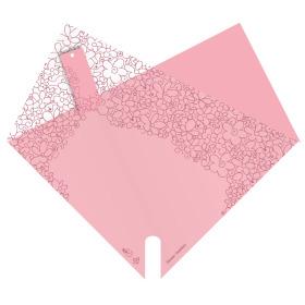 Hoes Doublé Flower Fashion 27x27cm roze