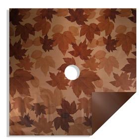 Fall Leaves 24x24in brown H3