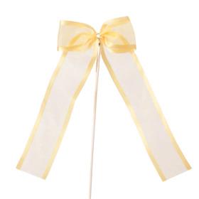 Ribbon Organza Stripe 10cm on 15cm stick orange