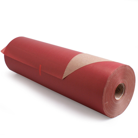 Roll Brown Kraftpaper 50cm/50g. FSC Mix red