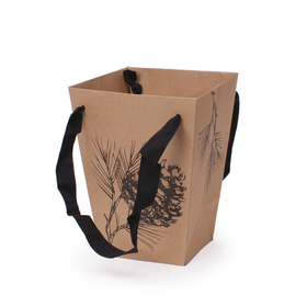 Carrybag Winter Garden 15/15x11/11x20cm natural/black