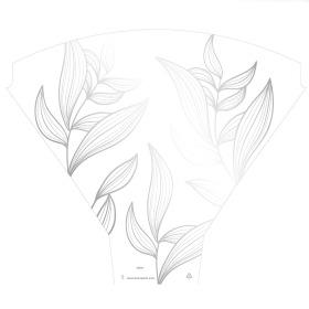 Sleeve Eden 54x44x12cm white