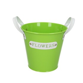 Zinc Flower pot Ø13xH12cm green
