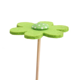 Flower Felt 5cm on 15cm stick green