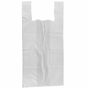 Singlet vest bag 40+(2x11)x80cm 20µm white