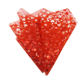 Organza Heart Beat 20x28 in red+red hearts with hole
