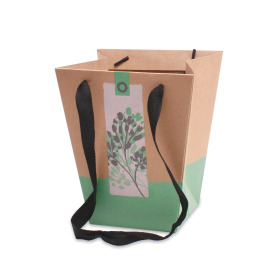 Bag Pure Nature 19/19x12/12x22,5cm green