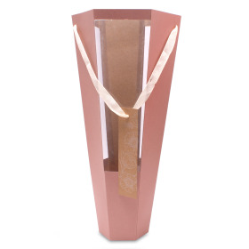 Tube Floral Gift 20x11x52,5cm roze