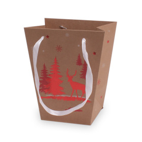 Carrybag Winter Wonderland 17/13x11/11x20cm red