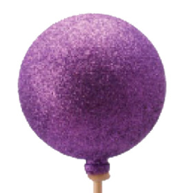 Christmas Ball Glitter 6cm on 50cm stick purple