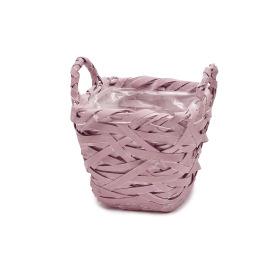 Basket Tess 15x15 H14cm mauve