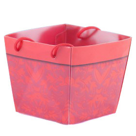 Carrybag waterproof folded Napoli 10x11/11x9/9cm red