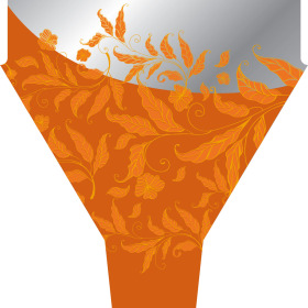 Fall Elegance 21x17x5in orange