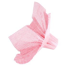 Bouquet holder Nonwoven Squares 25cm red