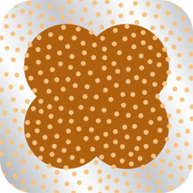 DOTS SHEET 24X24 IN BROWN
