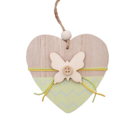 Heart Butterfly 8cm green