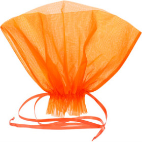 Organza Bqt roset Holder 20x12 in orange
