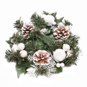 Wreath Luxury 25cm white