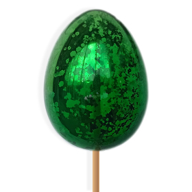 Egg Olly 2.75in on 20in stick green