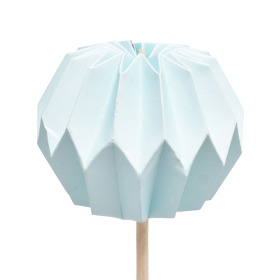 Pompon 7.5cm on 50cm stick blue