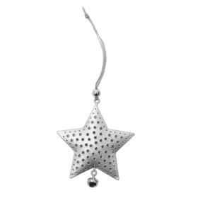 Star Rustic 6.5cm silver