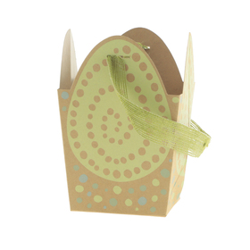 Draagtas Egg Scramble 12x9,5x12cm FSC Mix groen