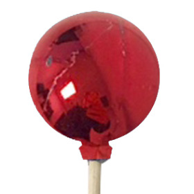 Christmas Ball Metallic Glossy 4cm on 50cm pick red