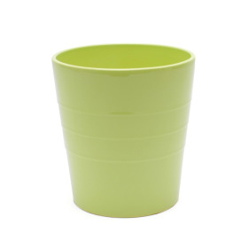 Ceramic Pot Linn 5in lime green